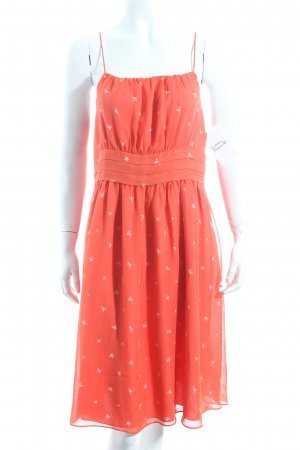 Mint&berry Trägerkleid hellrot-weiß Animalmuster klassischer Stil