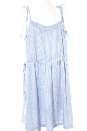 Mint&berry Trägerkleid himmelblau-weiß Allover-Druck Casual-Look