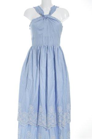 Mint&berry Trägerkleid himmelblau-weiß Romantik-Look