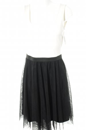 Mint&berry Trägerkleid schwarz-wollweiß Romantik-Look
