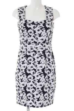 Mint&berry Trägerkleid weiß-dunkelblau Blumenmuster Romantik-Look