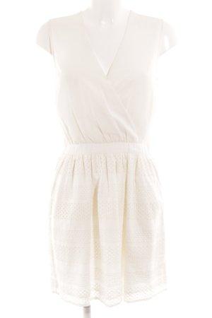 Mint&berry Abito scamiciato bianco stile romantico