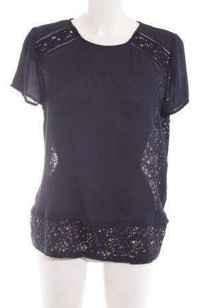Mint&berry Transparenz-Bluse blau Elegant