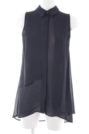 Mint&berry Transparenz-Bluse dunkelblau Transparenz-Optik