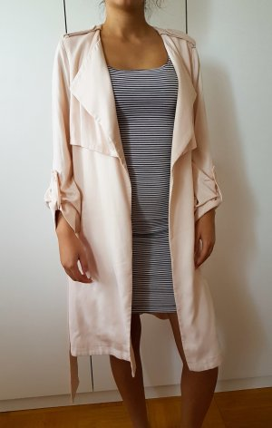 mint&berry Trenchcoat langer Mantel Soft pink rosa nude