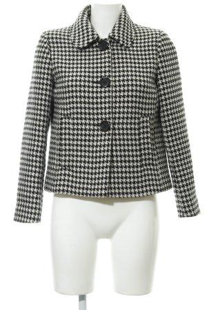 Mint&berry Übergangsjacke schwarz-wollweiß Pepitamuster Casual-Look