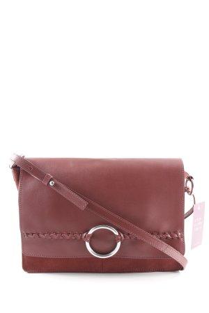 Mint&berry Umhängetasche rostrot-silberfarben klassischer Stil