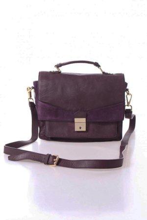 Mint&Berry Umhängetasche violett Ledertasche Echtleder Premium Blogger Must Have