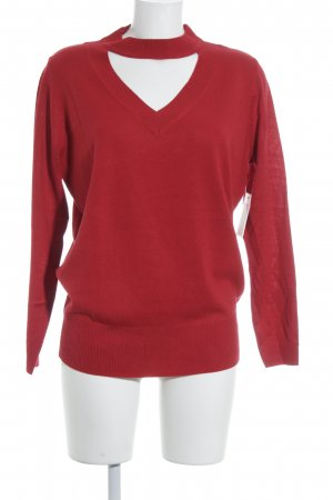 Mint&berry V-Neck Sweater red street-fashion look