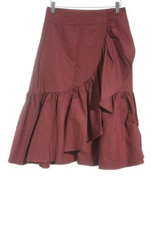 Mint&berry Jupe portefeuille rouge carmin style romantique