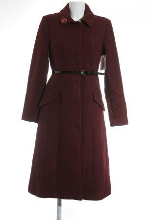 Mint&berry Manteau d'hiver noir-rouge carmin
