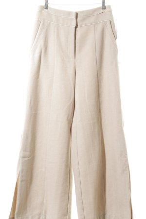 Mint&berry Wollen broek beige visgraatmotief casual uitstraling