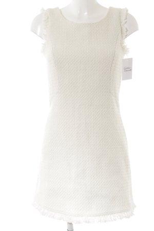 Mint&berry Vestido de lana blanco puro elegante