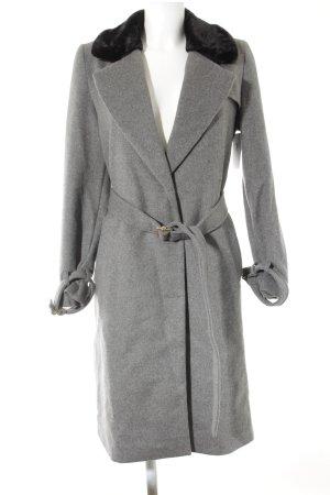 Mint&berry Cappotto in lana grigio-grigio chiaro elegante