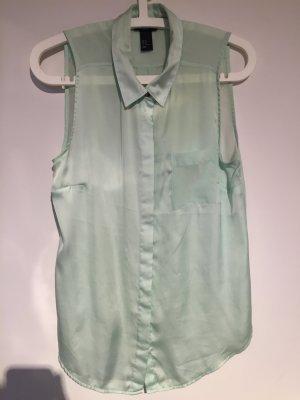 Mint Bluse leicht transparent