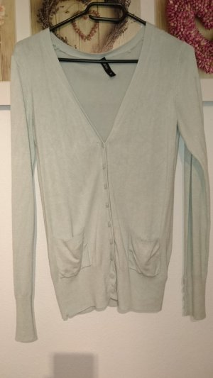 Mint-farbener Basic Cardigan