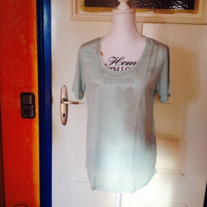 Mint farbenes Basic T-Shirt