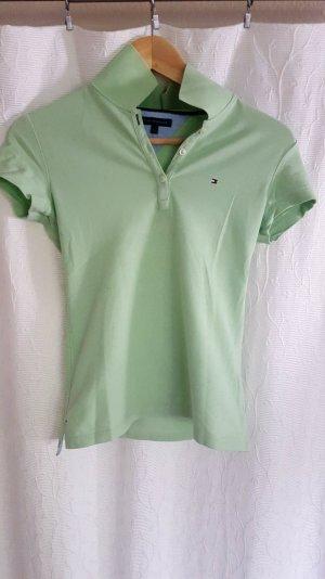Mint farbenes Polo-Shirt von Tommy Hilfiger