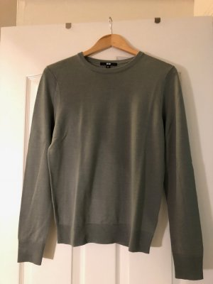 Mint/Graugrüner Wollpullover von Uniplo