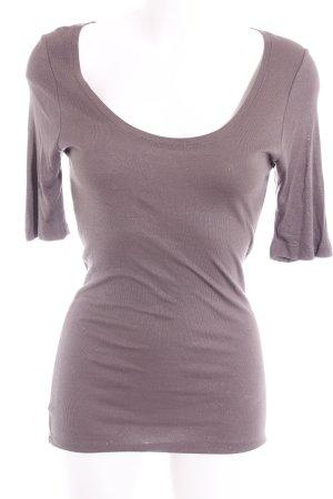 Mint Velvet T-Shirt graubraun Glitzer-Optik