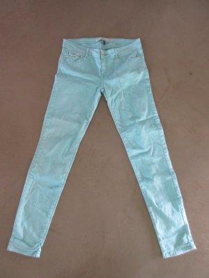 Mintfarbene Slim-Jeans, Gr. 40