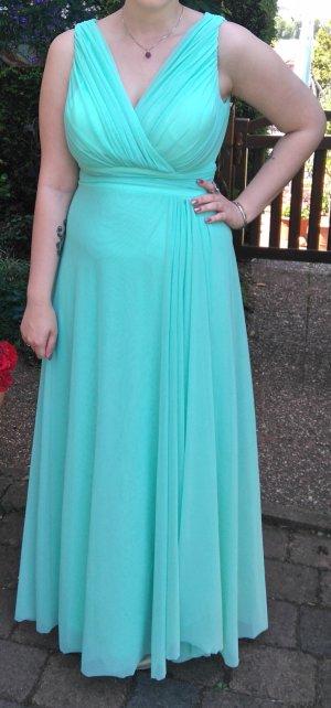 Mintfarbenes Abendkleid