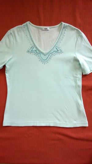 Mintfarbenes T- Shirt von G.W., Größe 38,