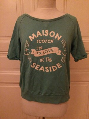 Mintfarbenes T-Shirt von Maison Scotch