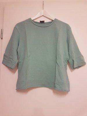 Zara Trafaluc T-shirt lichtblauw-munt Katoen