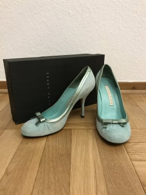 Mintgrüne High Heels von Pura López