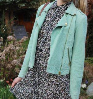 Mintgrüne Lederjacke von Vero Moda