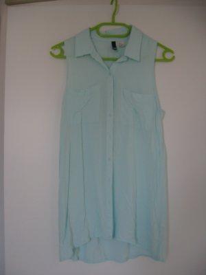 Mintgrüne schöne Long-Bluse
