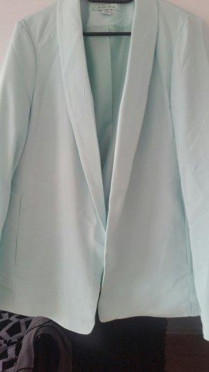 Amisu Korte blazer turkoois Lycra