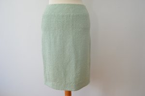 Mintgrüner Rock aus Bouclé Tweed