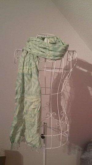 Mintgrüner Schal mit Retromuster aus Thailand