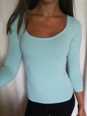 Mintgrünes 3/4 ärmliges H&M Shirt Gr. XS
