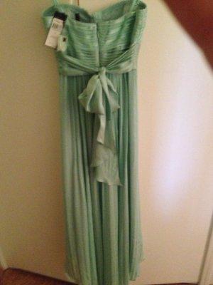 Mintgrünes Abendkleid mit Schleppe BCBG, Gr 0