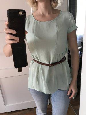 Mintgrünes Oversize-Shirt
