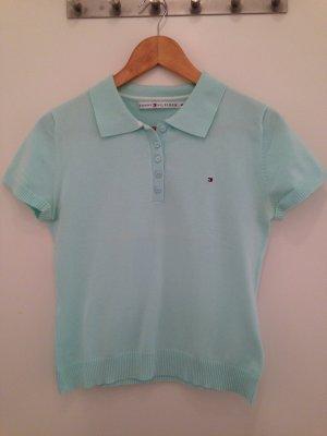 Mintgrünes Poloshirt von Tommy Hilfiger in Größe M (38)