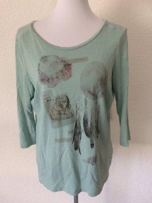 mintgrünes Shirt / Dreiviertelarmshirt von Esprit - Gr. M/L