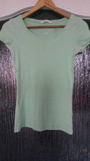 mintgrünes t-shirt aus bio baumwolle