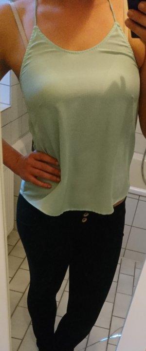 Mintgrünes Top Hängerchen rückenfrei