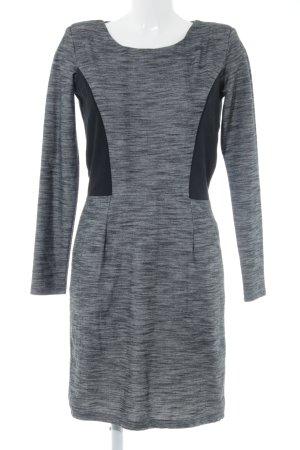 Minus Langarmkleid grau-schwarz Elegant