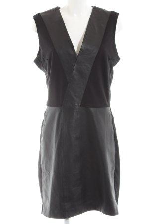 Minus Leren jurk zwart elegant