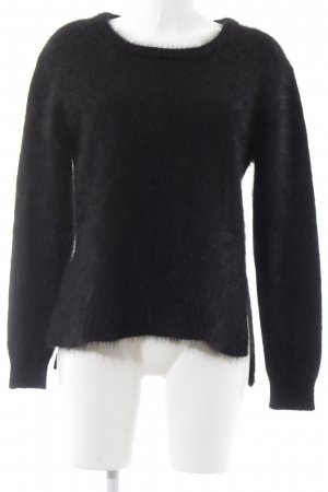 Minus Crewneck Sweater black fluffy