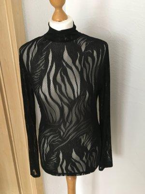 Minus - schwarze elegante Bluse Gr. 38