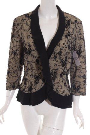 Minx Blazer schwarz-creme florales Muster Romantik-Look