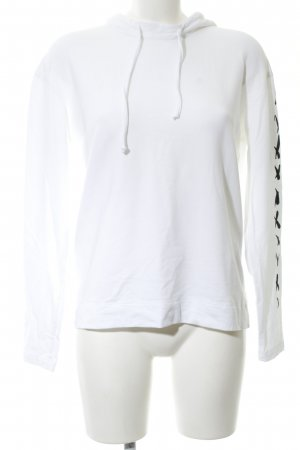 Minx by Eva Lutz Hooded Sweater natural white-black placed print casual look