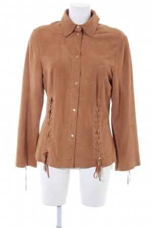 Minx by Eva Lutz Leather Shirt camel country style