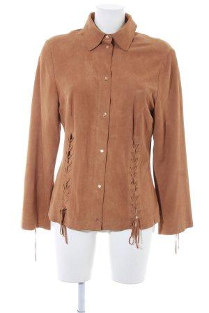 Minx by Eva Lutz Leren shirt camel country stijl